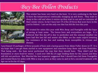 Buy Bee Pollen Products