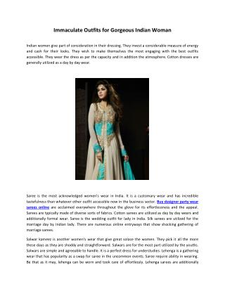 Immaculate Outfits for Gorgeous Indian Woman