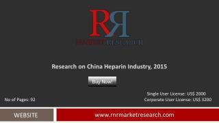 China Heparin Industry Development & Industry Challenges Report to 2015
