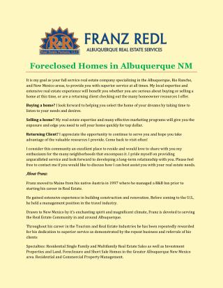 Foreclosed Homes in Albuquerque NM