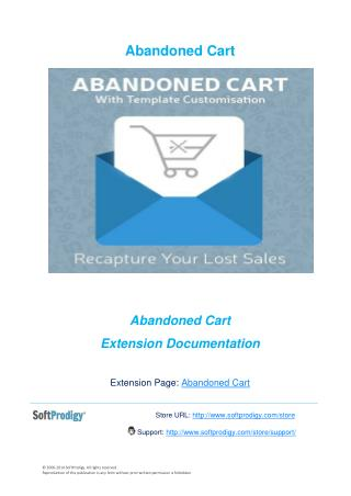 Abandoned Cart with Template Customization