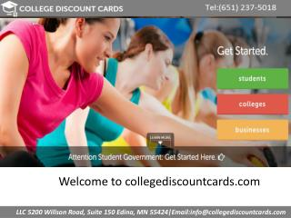 College student discounts cards