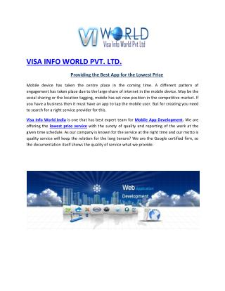 SEO company in Noida India-visainfoworld.com