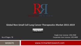 Global Non-Small Cell Lung Cancer Therapeutics Market: 2019 Trends, Challenges and Growth Drivers Analysis