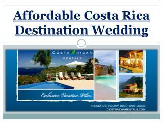 Affordable Costa Rica Destination Wedding