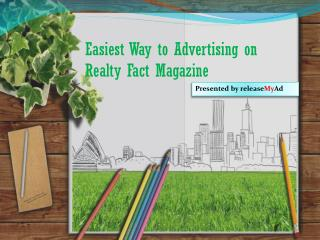 Advertising on Realty Fact Magazine