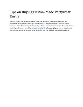 Designer Kurtis online shopping