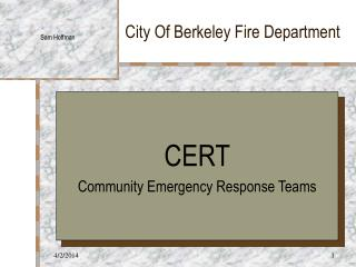 City Of Berkeley Fire Department