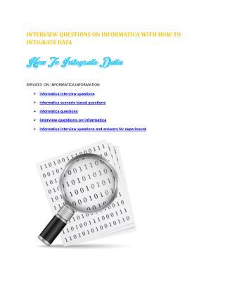 informatica scenario based  interview questions