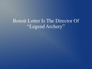 Benoit Lotter Chicago