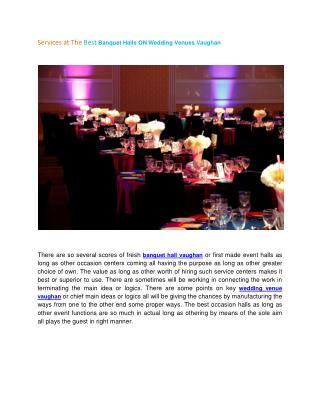 Vaughan wedding venue banquet hall