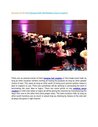 Vaughan wedding venue banquet hall