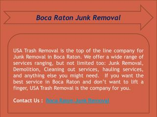 Boca Raton Junk Removal