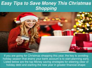 Easy Tips to Save Money This Christmas