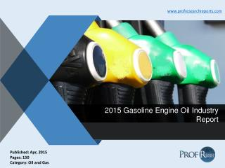 2015 Gasoline Engine Oil Industry Report