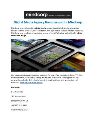 Digital Media Agency Hammersmith - Mindcorp