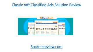 ClassiCarft WordPress Classified Ads Solution Review