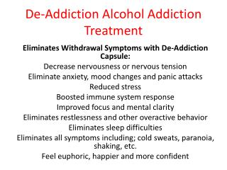 How De-Addiction Capsule Works  De-Addiction Capsule