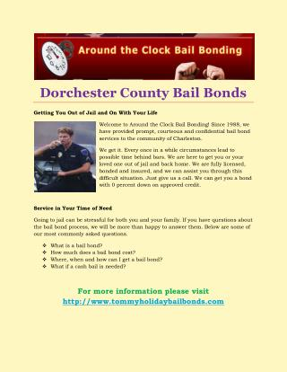 Dorchester County Bail Bonds