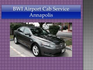 BWI Airport Cab Service Annapolis