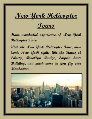 New York Helicopter Tours