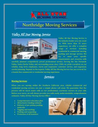 Northridge Moving Services