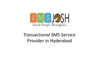 Transactional SMS Services provider in Hyderabad