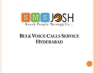 Voice SMS Services providers in Hyderabad