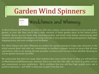 Garden Wind Spinners