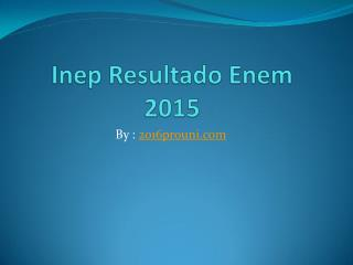 Resultado do Enem 2015