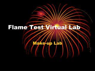 Flame Test Virtual Lab