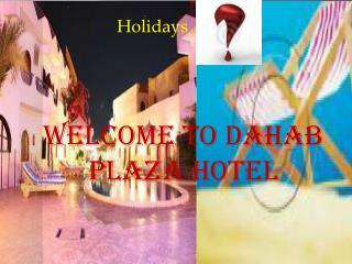 Booking hotel Dahab