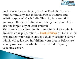best coaching Upsc in Lucknow
