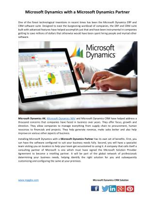 Microsoft Dynamics with a Microsoft Dynamics Partner