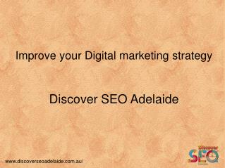 Digital Marketing : Plan, Strategy and Service by Discover SEO Adelaide
