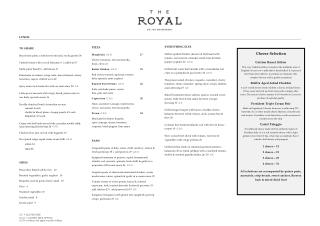 Lunch Menu - The Royal On The Waterfront