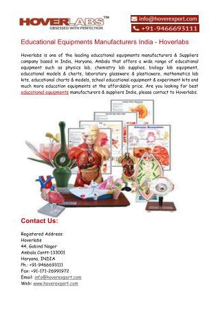 Educational Equipments Manufacturers India