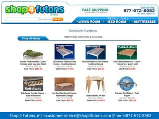King size platform bed shop 4 futons