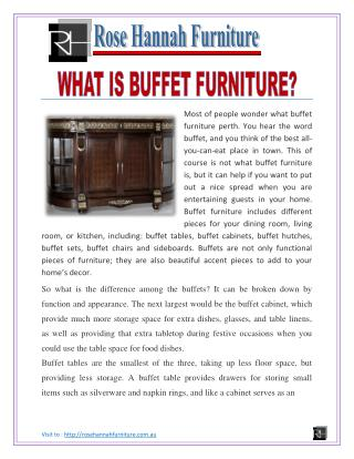 what is buffet furniture?