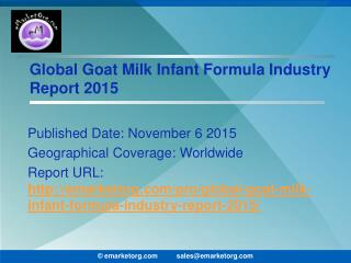 Goat Milk Infant Formula Market Well Conferred Development Policies and Manufacturing Processes Report