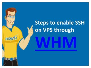 Steps to enable SSH on VPS through WHM