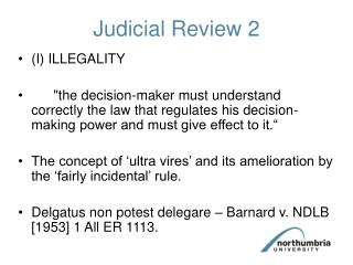 Judicial Review 2