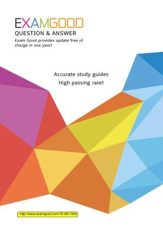 Microsoft MCSA Querying Microsoft SQL Server 2012 70-461 exam dumps