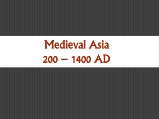 Mayer - World History - Medieval Asia