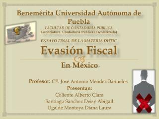 La Evasi�n Fiscal en M�xico se puede combatir