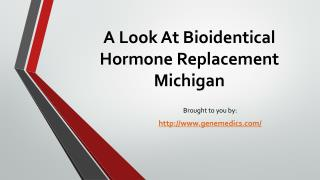 A Look At Bioidentical Hormone Replacement Michigan