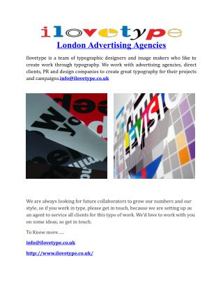 London Advertising Agencies
