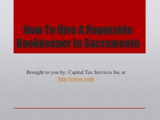 How To Hire A Reputable Bookkeeper In Sacramento