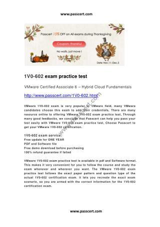 VMware 1V0-602 practice test