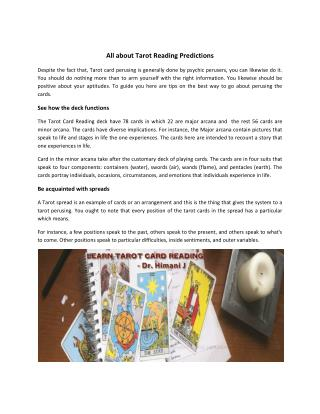 Learn Tarot Card Reading Courses Online - Best Reader in India